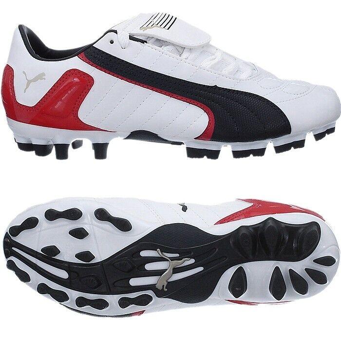 Puma V-Kon II GCi FG Fußballschuhe weiß grau rot 38,5 44,5 48,5 NEU