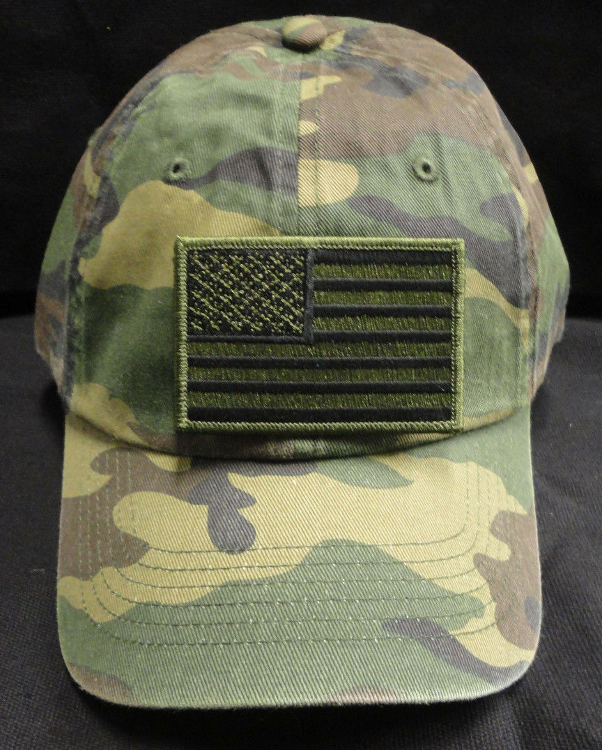 Port with Authority Camouflage Cap C851 with Port Green American Flag Patch 0cea2a