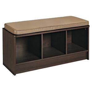 Details about Storage Bench Entryway Hallway Lobby Furniture Indoor  Organize Bedroom Kitchen