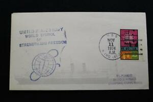 Navale-Cover-1974-Nave-Cancel-World-Simbolo-Marchio-Uss-Nitro-AE-23-6000