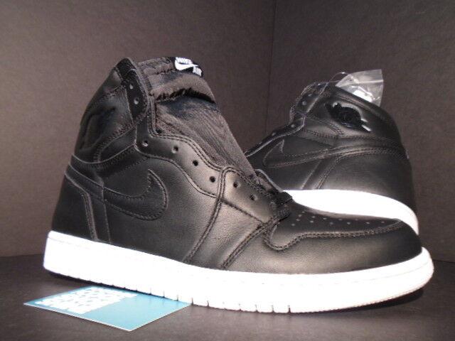 2015 Nike Air Jordan I Retro 1 High OG CYBER MONDAY BLACK WHITE 555088-006 10.5