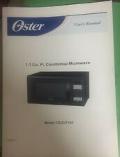 Oster 16 Cu Ft Stainless Steel Digital Microwave Oven Black Ebay