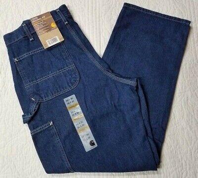 Carhartt mens carpenter jeans B13DST 40 x 34