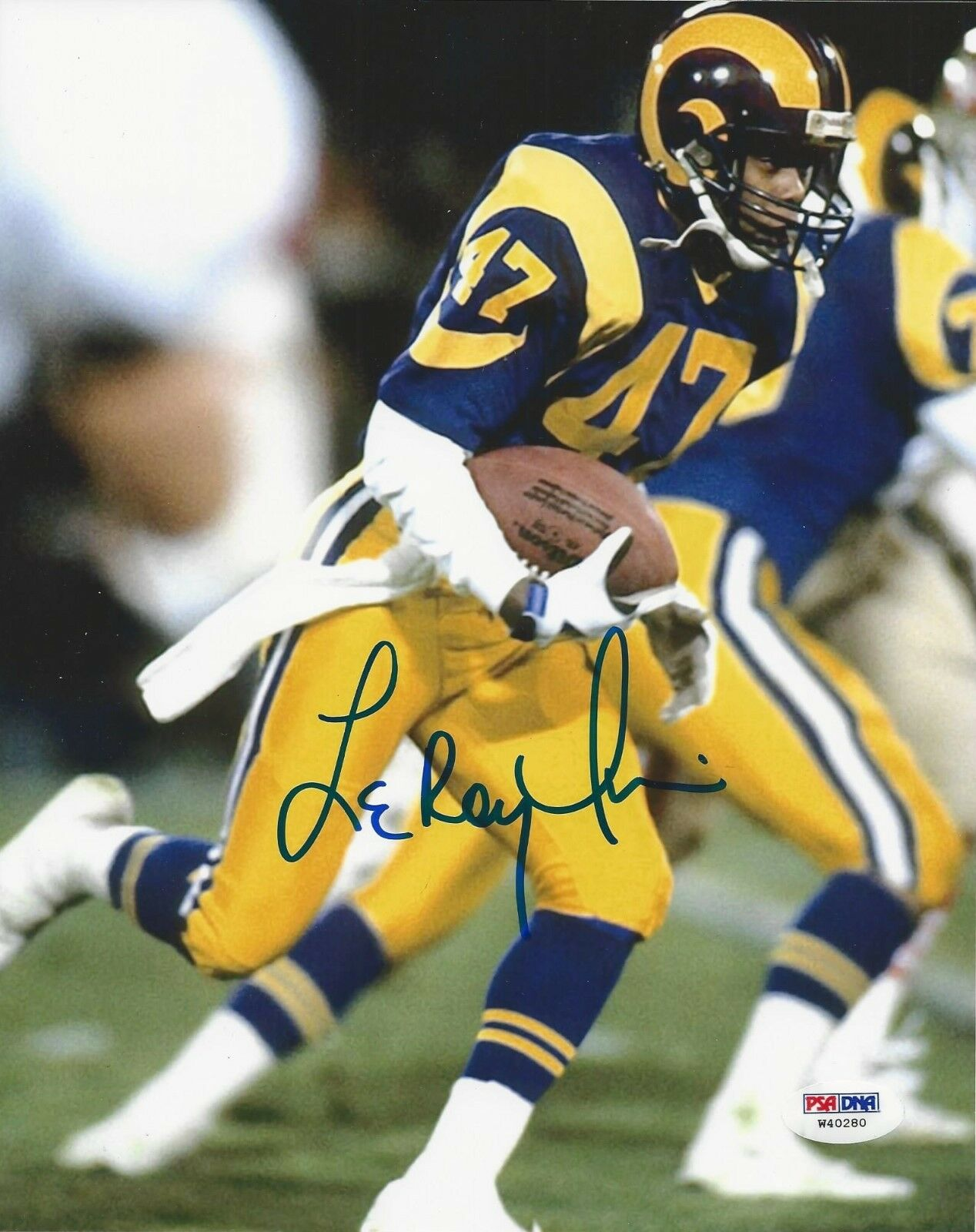 Leroy Irvin Los Angeles Rams Signed 8x10 Photo - PSA/DNA # W40280