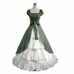 Vintage Ball Gown Dress Victorian Lolita Girls Sleeveless Elegant Green Prom Ebay