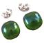Glass-Earrings-Emerald-Green-Iridescent-Metallic-Teal-Green-Post-1-4-034-8mm-STUDS thumbnail 3