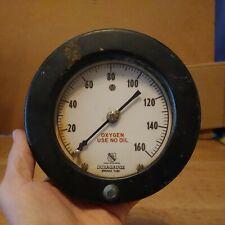 Vintage Steampunk Large 6 Ashcroft 1850 Duragauge Bronze Tube Pressure Gauge