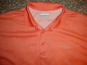 Columbia PFG Mens Large Perfect Cast Orange Omni Shade Fishing Polo Shirt NWT