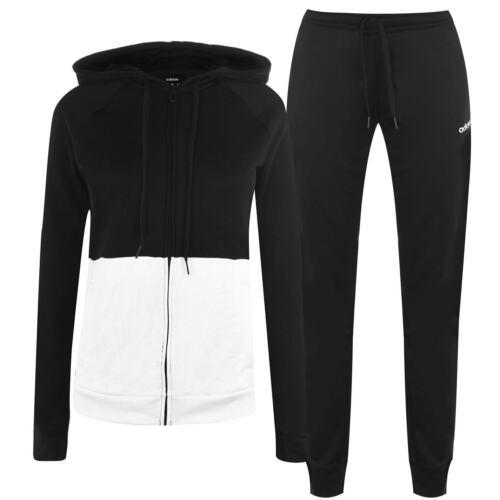 adidas Damen Linear Fleece Trainingsanzug Crop Top Hoodie Jogginghose Fitness