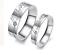 Coppia-Fedine-Fidanzamento-Acciaio-Anelli-Uomo-Donna-Love-Incisione-Nome-data miniatura 1
