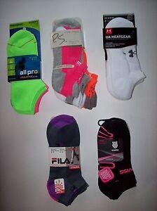 All-Pro-P-S-UA-Fila-K-Swiss-Socks-Womens-Select-Brand-Size-3-Pair-Pack-NIP