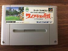Waialae no Kiseki 3D Golf Super Famicom SFC Japan Import Tested Works!
