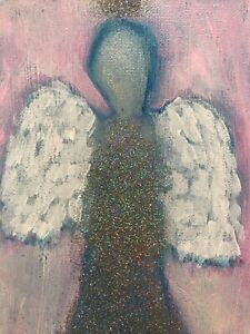 LMOP1015 100/% hand-painted abstract angel woman OIL PAINTING on CANVAS wall ART