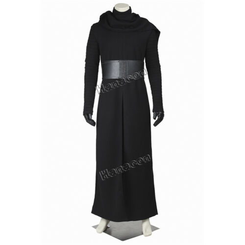 Star Wars 7 The Force Awakens Kylo Ren Adult Cosplay Costume Black Cloak Party