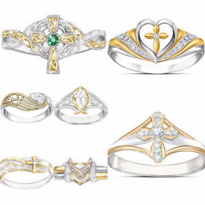 Fashion-925-Silver-Rings-for-Women-Emerald-Jewelry-Wedding-Ring-Size-6-10