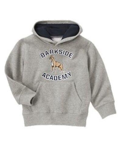 NWT Gymboree Dog Barkside Academy Pullover Hoodie Sweatshirt Boys XS 3 4 S 5 6