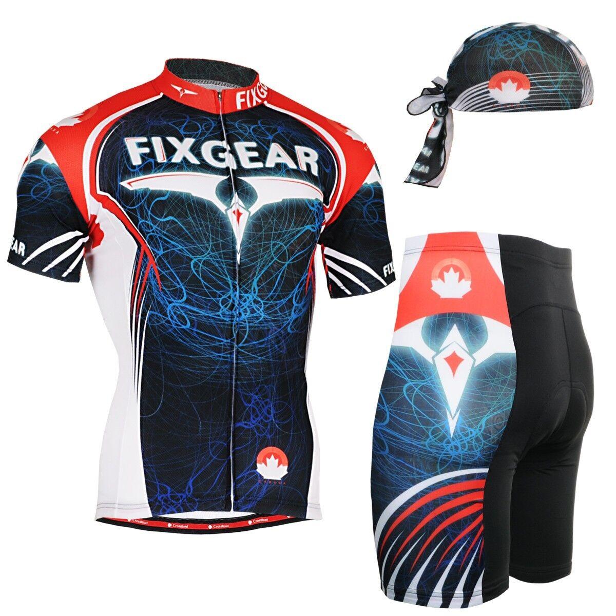 FIXGEAR CS-3502-SET Cycling Jersey & Shorts Padded, MTB Bike, BMX, Beanie GIFT
