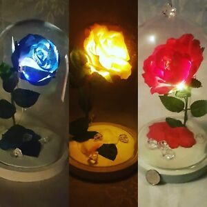 Wonderful Image Is Loading Beauty And The Beast Enchanted Rose Lamp