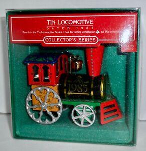 Hallmark-Keepsake-Christmas-Ornament-1985-TIN-LOCOMOTIVE-Series-4-Train-H15