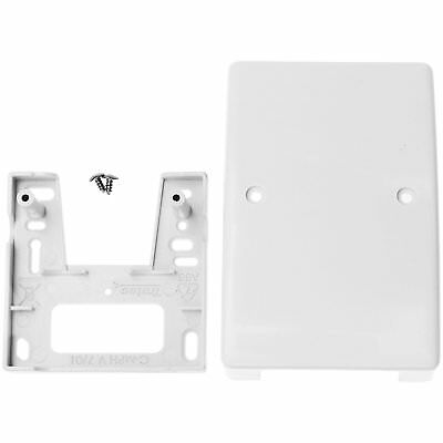 1STec White Internal Virgin Media Wall Box Housing for 2-Way Splitter Outlet or