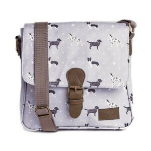 Grey Crossover Bag Satchel Black Lab Gift Gifts Collie Labrador Dalmatians Bags