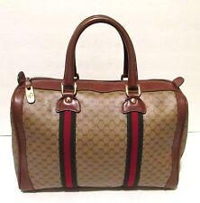 Authentic Vintage GUCCI Web Boston Doctor Bag Speedy Purse Handbag