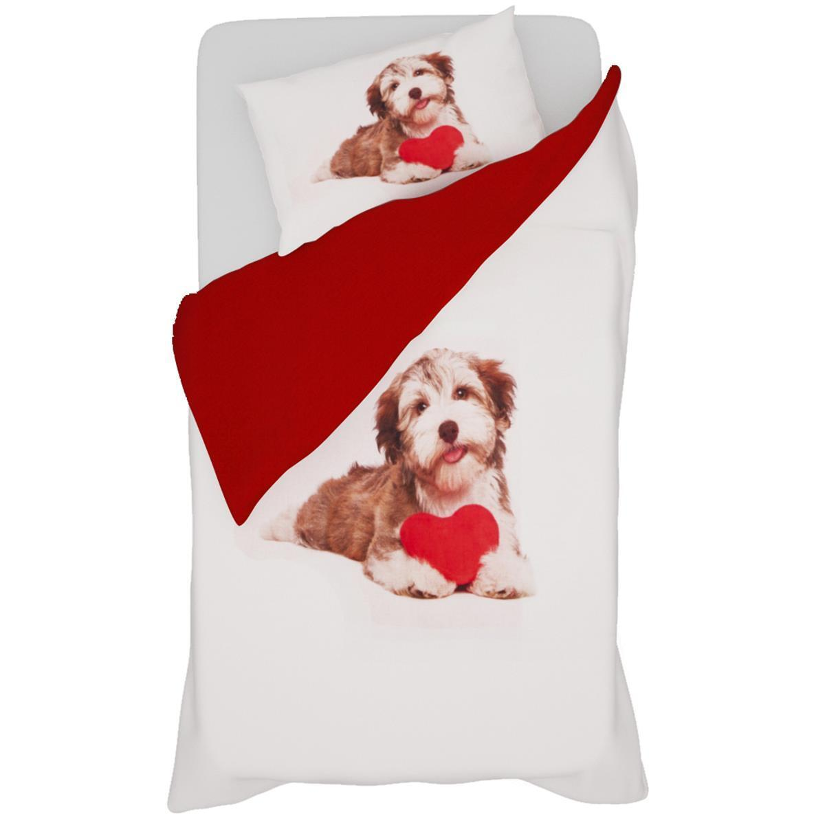 Copripiumino Copripiumino Copripiumino Parure con stampa digitale Dog in Love Singolo una piazza N416 7fd8fe
