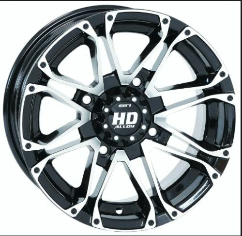 STI HD3 ALLOY GLOSS BLK MACHINED WHEEL 14 x 7 4//156 4+3 14HD303 RZR Ranger