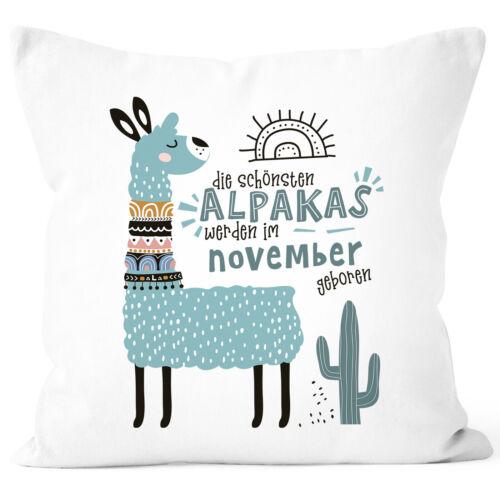 Kissen-Bezug Die Schönsten Alpakas werden im Januar-Dezember geboren