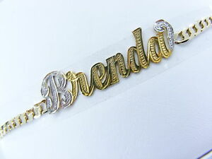 Image Is Loading Personalized 14k Gold Gp Cuban Name Plate Bracelet