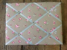 Clarke & Clarke Rosebud Fabric memo/Notice Display Board 40x30cm Shabby Chic