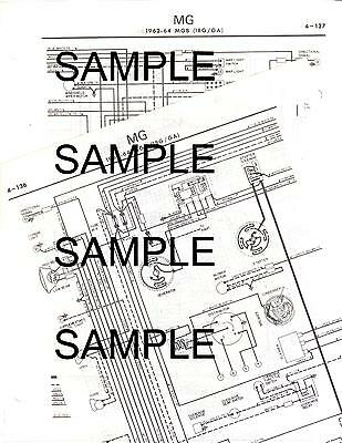 SUNBEAM ALPINE SERIES IV WIRING DIAGRAM CHART GUIDE 6370BK | eBayeBay