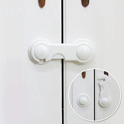 10pcs Toddler Baby Cabinet Safety Lock Kids Child Drawer Cupboard Door Locks US