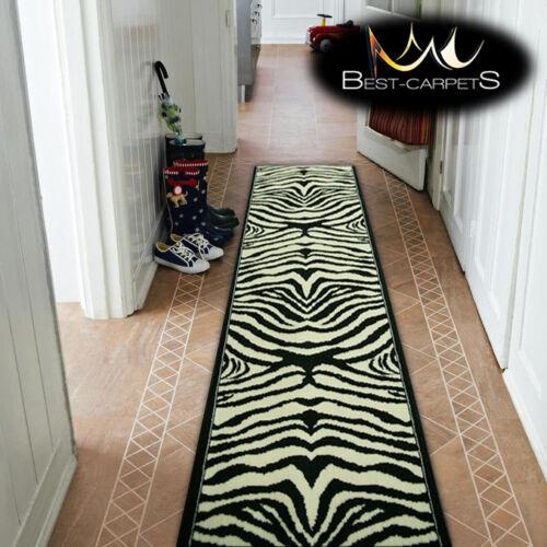 Modern hall tapis runner bcf zebra crème escaliers largeur 70-100cm extra long tapis
