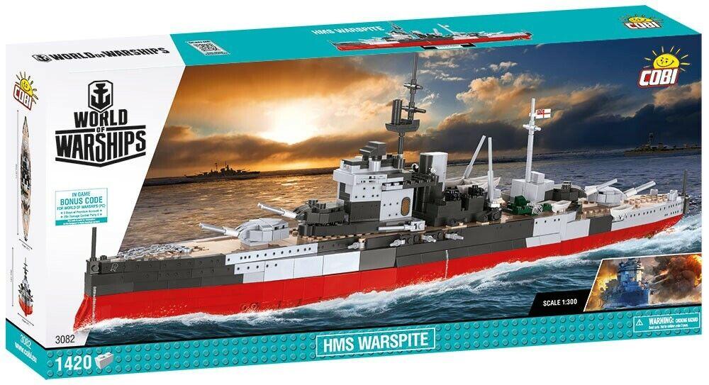 COBI HMS Warspite SET(1420 Pcs.) NEW, World of Warships, US SELLER