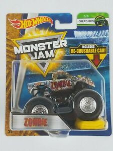 Hot-Wheels-Monster-Jam-Zombie-1-64th-Monster-Truck-Crushable-car-Creatures