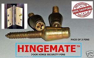 Hingemate 3 Pack Door Hinge Mate Security Pins Stud Screw