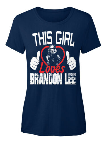 This Girl Loves Brandon Lee The Crow Standard Women/'s T-shirt