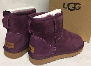 63525bef4d0 Details about Ugg Australia Classic Mini II Boots Mystic Purple sizes  1016222 Women Sheepskin