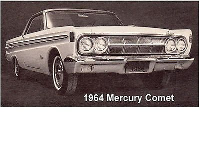 1964 Mercury Comet Auto Refrigerator Tool Box Magnet