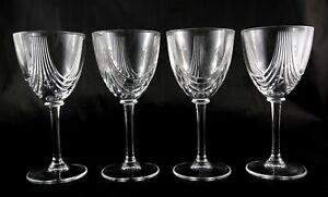 4-Rare-Italian-Deco-Vintage-small-wine-sherry-spirit-lead-crystal-glasses