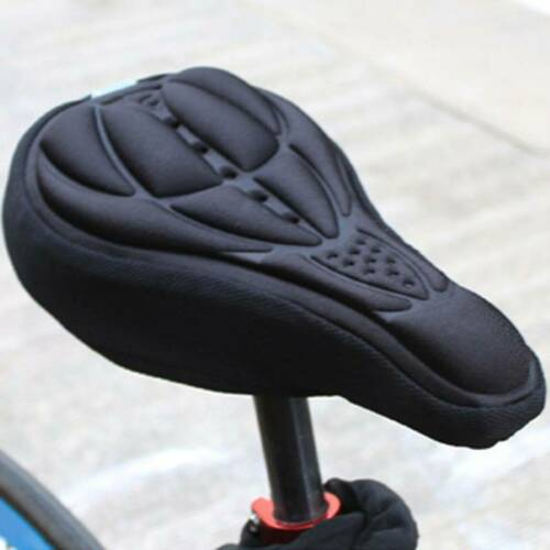 MTB Mountain Bike Saddle Seat Cover Soft 3D-Memory Foam Pad Bicycle Cushion Seat