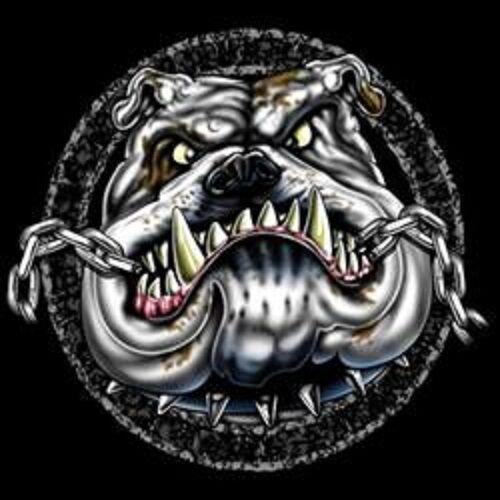 Bulldog Chain HEAT PRESS TRANSFER for T Shirt Sweatshirt Tote Quilt Fabric 821j