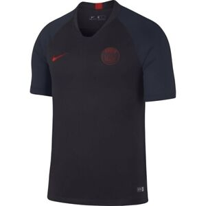 huge discount 5594f 65656 Details about Nike PSG Paris Saint German Official 2019 - 2020 Soccer  Training Jersey Black
