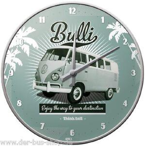 VW-Bus-T1-Bulli-Wanduhr-Uhr-31cm-Durchmesser-Neu-amp-OVP
