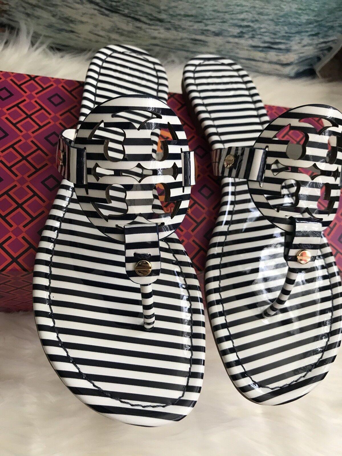 NIB TORY BURCH Navy Stripe Miller Thong Sandals Sandals Sandals <CHOOSE YOUR Größe   130d1f
