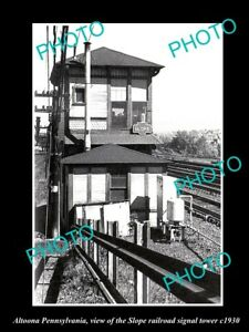 OLD-LARGE-HISTORIC-PHOTO-OF-ALTOONA-PENNSYLVANIA-THE-SLOPE-RAILROAD-TOWER-c1930