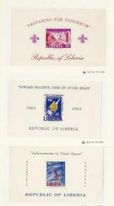 Liberia-Postage-Stamp-C152-C162-C176-Mint-NH-Sheets-1967-Space-Scouts