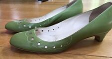 Women's MARC JACOBS Shoes. Size 40. UK 7. Green Leather. Low Heel.