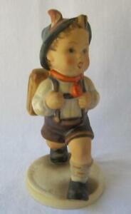 M I Hummel Goebel Porcelain Figurine School Boy Germany Mother's Day Gift